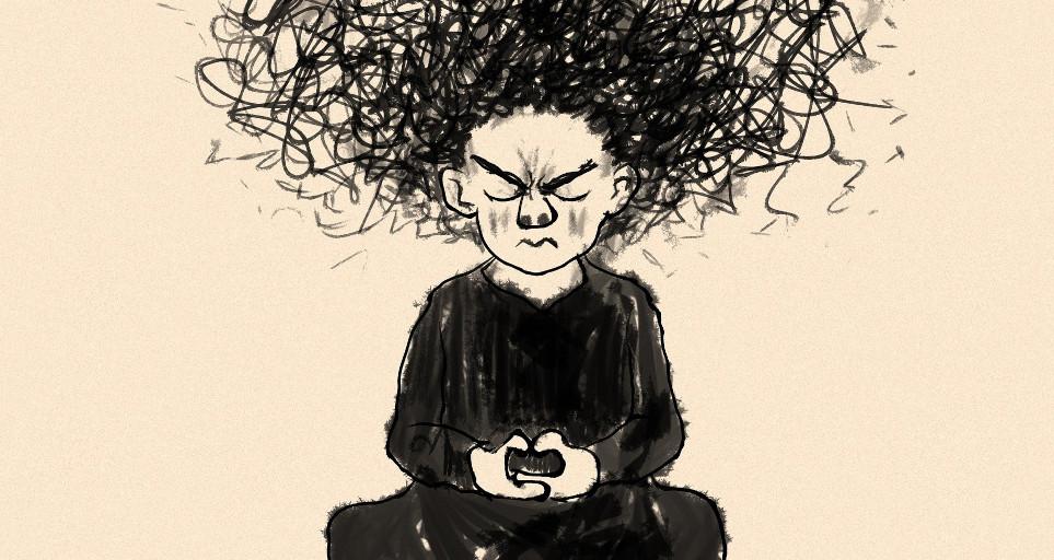 wkurzona medytacja